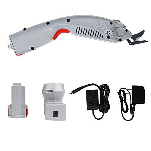 MXBAOHENG Cortador de Tela Industrial Inalámbrico Tijeras Eléctricas para Tela WBT-1 con 1 Batería y 1 Cuchilla
