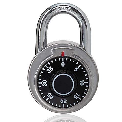 HZWLF Vorhängeschlösser Diebstahlsicherung, für Schließfächer, Passwortsperre Sicheres mechanisches Schloss Drehscheibenschloss Drehmedium Für Safe Box Gym
