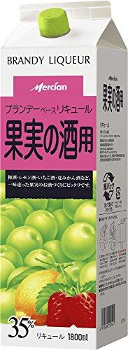 メルシャン ブランデーベースリキュール 果実の酒用パック [ リキュール 1800ml ]