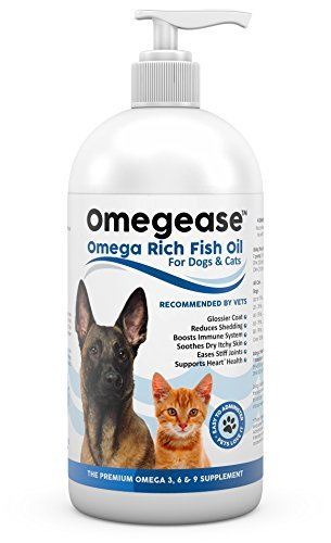 Omegease Omega 3, 6 & 9 Fish Oil for Dogs and Cats, 8 Ounces