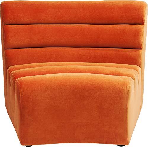 Kare 83664 Design Sofa Element Wave Orange, Sofaelement Modern Pop, Rundsofa, Bigsofa, XXL Chillsofa Samt, individuell erweiterbar (H/B/T) 82x109x84cm
