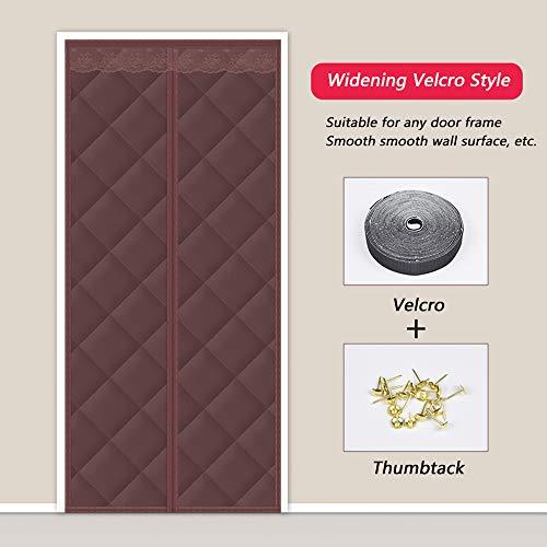 Thermo deur gordijn, dikker winddicht verduisterd geluidsisolatie partitie deur gordijn slaapkamer Dorm, winter warm magnetische automatische sluiting airconditioning gordijn