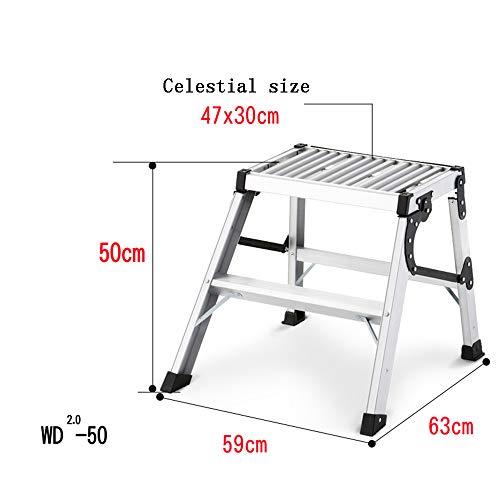 Uitbreiding ladder DD Light Duty 2-3 Tread Stap Ladders - Kleine Opslagruimte Vereist. Perfect voor die moeilijk te bereiken plaatsen