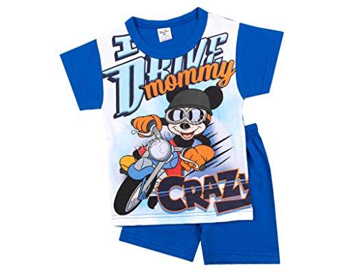 Kinder Junge Pyjama | 100% Baumwolle | Kurzarm | Nachtwäsche | Pyjama Set | Schlafanzug | Paw | Blau (98-3 Jahre, Minze)