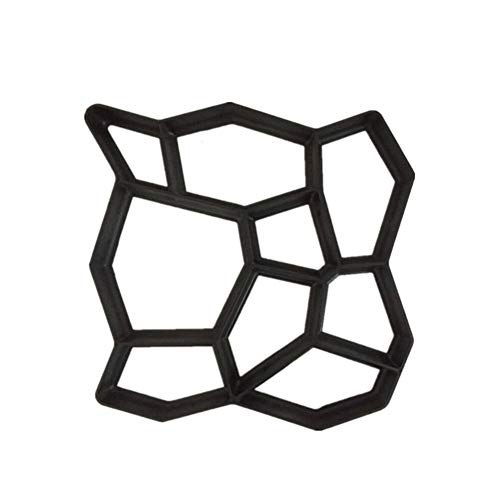 GYZ Pflasterform zur Stärkung der Straßenmodellierung Zementsegmentierung Kopfsteinpflaster Dekoration Parkett Pflaster Zementform, 50X4cm