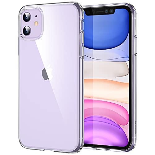 "ESR Funda Compatible con iPhone 11(2019) 6,1"", Carcasa Antigolpes y Anti- Arañazos con Parachoques de TPU Suave Flexible, Compatible con Carga Inalambrica, Transparente"