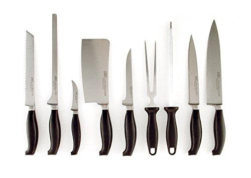 Juego de 9 Cuchillos de Cocina Profesionales en Estuche