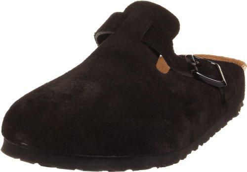 Birkenstock Boston Soft Footbed (Unisex), Black Suede, 37 M EU