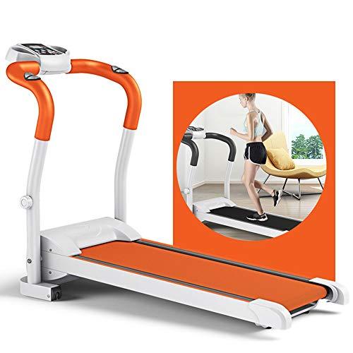 YALIXI Cinta De Correr, 2.0HP Silent Motor Treadmill Electric Treadmill Trotadora De Correr, Gym Home Pequeño Equipo De Fitness Ultra Silencioso Portátil, Prueba De Frecuencia Cardíaca, 0.8-10 Km/H