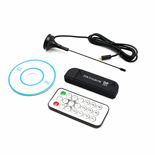 ZEERKEER Mini TV Digital portátil USB 2.0 TV Stick DVB-T + Dab + FM + SDR RTL2832U + R820T Admite Receptor de sintonizador de SDR