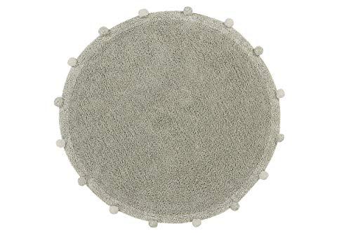 Lorena Canals Tapis Lavable en Machine Bubbly Olive - Natural 97% Coton 3% Autres Fibres Base: Coton recyclé -Vert, Beige- Ø 120 cm