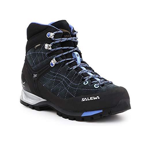 Salewa Damen WS MTN Trainer Mid GTX (O) Trekking- & Wanderstiefel, Mehrfarbig (Carbon/River Blue 790), 42 EU