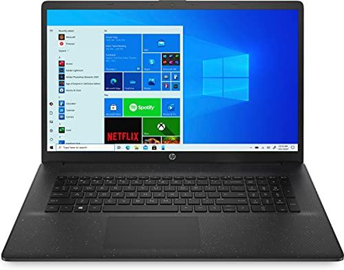 HP 17-cn0035ng (17,3 Zoll / HD+) Laptop (Intel Core i3-1115G4, 8GB DDR4 RAM, 256GB SSD, Intel Grafik, Windows 10, QWERTZ-Layout) schwarz