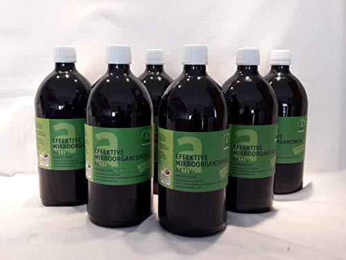 Multikraft Effektive Mikroorganismen Aktiv (EM-Aktiv), Bodenhilfsstoff, 6 X 1 l FL.
