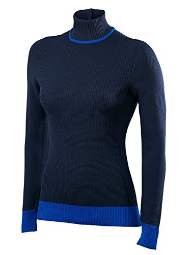 FALKE Damen Skipullover Zip Pullover Women, Dark Night, M