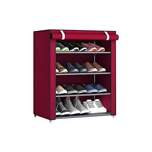 Porta scarpe da scarpe da interno multifunzione multistrato Scarpe da scarpe multistrato antipolvere antipolvere tessuto non tessuto cabinet domestico in piedi spazio salvaspazio stand supporto sempli