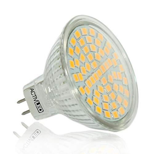 10x MR16 LED Spot SMD 2835 Leuchtmittel 300lm - 320lm 12V Warmweiß 3000K mit Schutzglas ersetzt 35 Watt Halogen AL-MR16WW3K-10