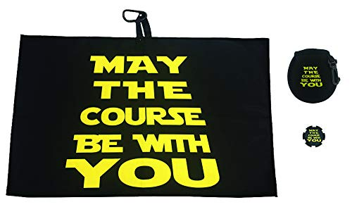 Giggle Golf May The Course Be with You Golf Waffle Towel, Poker Chip & Ball Cleaning Pouch