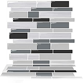 Tic Tac Tiles 6-Sheet Peel and Stick Self Adhesive Removable Stick On Kitchen Backsplash Bathroom 3D Wall Sticker Wallpaper Tiles in Polito Modi