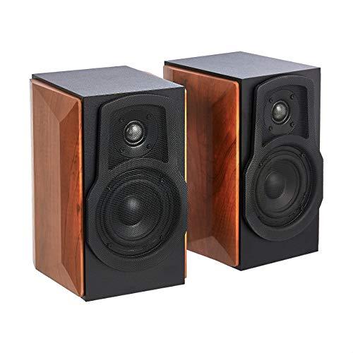 Amazon Basics Bookshelf Speakers with Passive Speaker, 50W, 50-20KHz