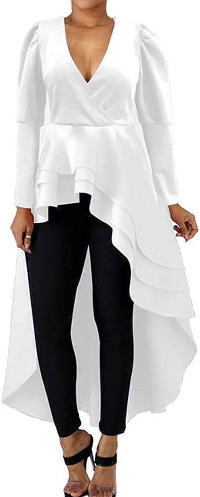 Halfword High Easy-to-use Memphis Mall Low Tops for Women Asymmetrical - Peplum Lon Shirt