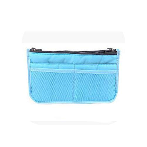 Sac Cosmétique | Organisateur De Sac De Maquillage Cosmetic Bag Portable Multifonction Dual Zipper Storage Bag Cosmetic Organizer Holder-Blue-