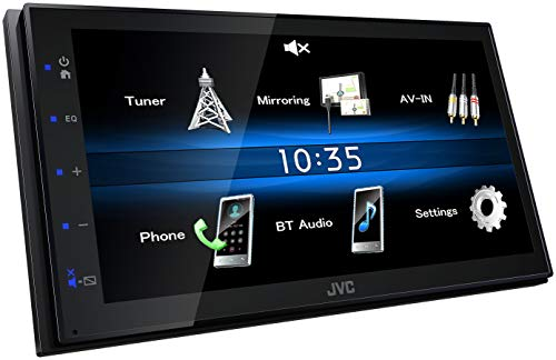 JVC KW-M25BT, Digital Media Receiver mit 17,3 cm Hochglanz-Touchpanel, Bluetooth, Android USB-Mirroring, 4 x 50 Watt