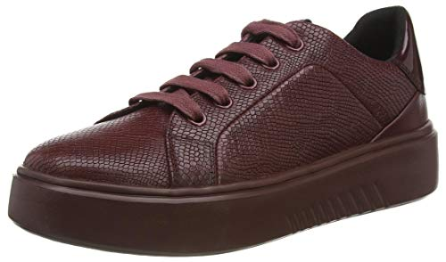 Geox Damen D NHENBUS A Sneaker, Rot (Dk Burgundy C7357), 36 EU