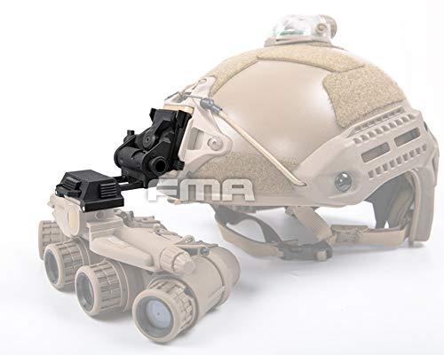 FMA Airsoft Paintball L4G24 Black Plastic Helmet NVG Mount for PVS15 PVS18 GPNVG18 Night Vision Goggles