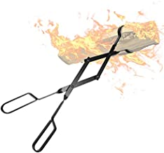 """Amagabeli Fireplace Log Tongs 26"""" Heavy Duty Indoor Firewood Tongs Wrought Iron Log Claw Large Grabber for Wood Stove Outdoor Long Logs Tweezers for Fire Pit Campfire Fire Place Tools Accessories"""