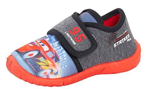 Disney Zapatillas para niños con fácil sujeción, para niños, con iluminación McQueen, gris, 30 EU