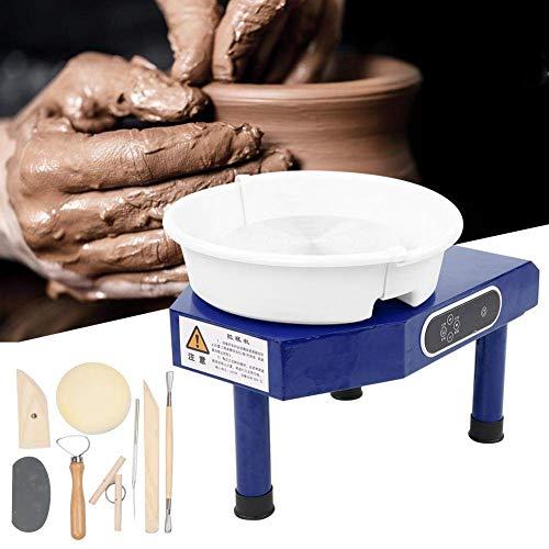 NAWS Mini Torno de alfarero,Rueda de la cerámica, cerámica Torno de alfarero Que Forma la máquina eléctrica con Pedal de Cerámica de la Arcilla Arte DIY de la Arcilla (350W)