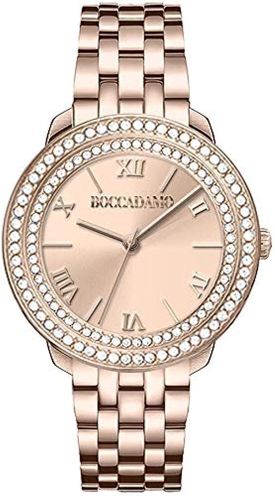 Boccadamo, orologio per donna,in acciaio placcato oro giallo DV006