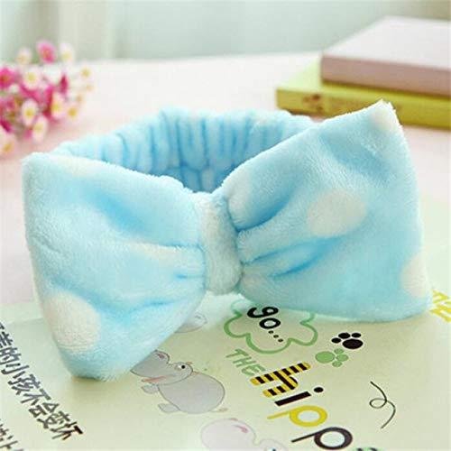 8 PcsBig Rabbit Ear Coral Fleece Head Band Soft Elastic Hair Ribbon SPA Bath Shower Make Up Wash Face Headband Hair Band Headwear 6