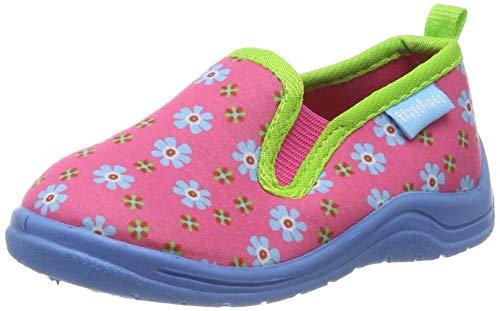 Playshoes Zapatillas -Floral, Pantuflas para Niñas, Rosa (Pink 18), 24/25 EU