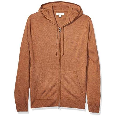 Amazon Brand – Goodthreads Men's Merino Wool/Acrylic Fullzip Hoodie Sweater