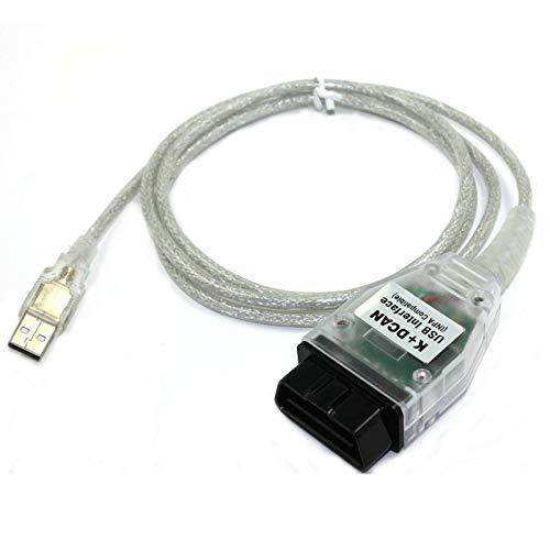 JahyShow BMW K+D CAN USB Interface Cable Car Ediabas K+ Dcan USB OBD OBD2 OBDII Diagnostic Scanner for BMW R56 E87 E93 E70