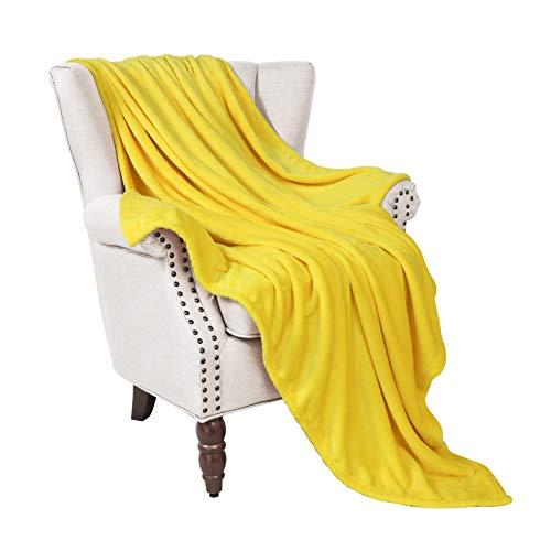 Exclusivo Mezcla Flannel Fleece Velvet Plush Soft Throw Blanket  50