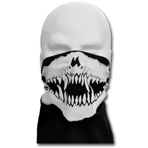 WINDMASK Biker Vampier Monster Face Bandana Gesicht Tuch zum Binden, Variante:mit Nasenbügel