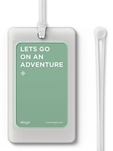 elago LUGGAGE TAG ネームタグ スーツケース 旅行カバン ゴルフバッグ 用 シリコン 製 ラゲージタグ ネームプレート フロストホワイト