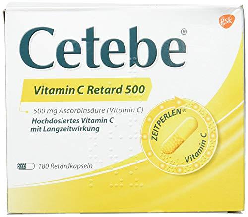 CETEBE Vitamin C Retard Capsules 180 Stück