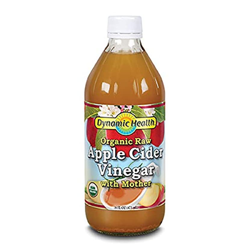 交換可能敬意民兵Dynamic Health Organic Raw Apple Cider Vinegar With Mother  16 oz (473ml) [並行輸入品]