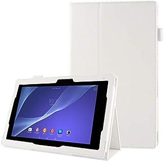 XINGCHEN Tablet PC Shell Funda de Cuero con Textura Litchi con Soporte para Sony Xperia Tablet Z2 10.1 (Negro) Funda Protectora (Color : Blanco)