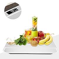 体重計、家庭用バスルーム電子液晶デジタル体脂肪計高精度測定体重体測定テープ、バックライトディスプレイ(白い)