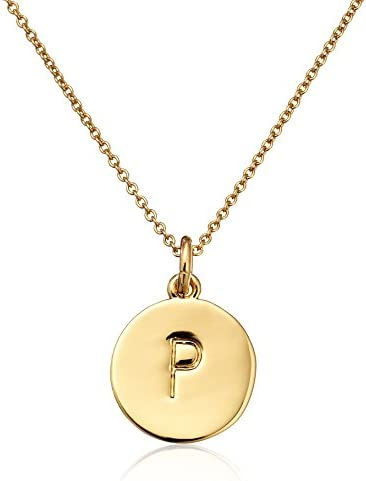 kate spade new york Gold-Tone Alphabet Pendant Necklace, 18""