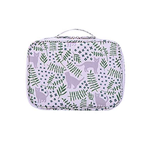 BIGBOBA Sac à Cosmétiques De Voyage Trompette Portable Mini Trousse De Maquillage Trousse De Toilette Portable Tissu Taille 18 * 24 * 9cm