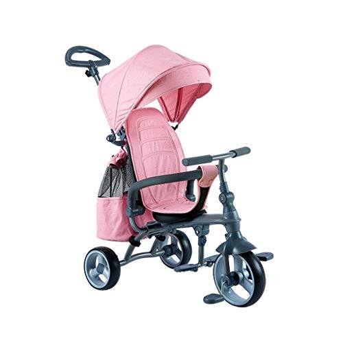 BLWX - Tricycle Pliant pour Enfants Tricycle pour Enfants Bicyclette pour bébé HSR199 Ultra Light Poussette (Couleur : Red)