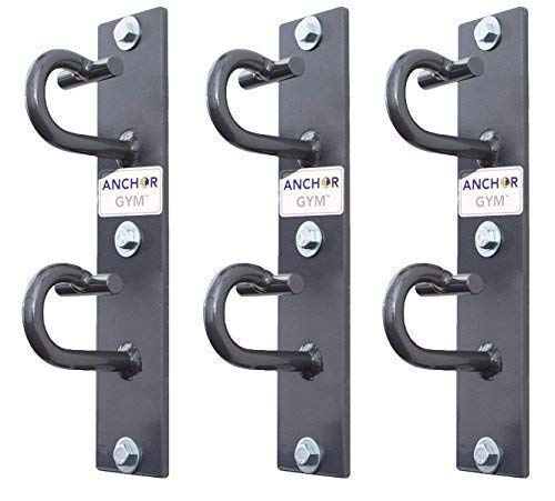 Anchor Gym - CORE Station: Workout Wall Mount Anchor | Wall, Ceiling Mounted Hook Exercise Station for Body Weight Straps, Resistance Bands, Strength Training, Yoga, Home Gym (Lag Bolts for Wood included)
