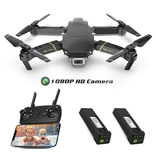 Global Drone EXA Drones with Camera Live Video 1080P HD, Wi-Fi FPV Quadcopter with Foldable Arms, APP Control, Altitude Hold, One Key Take Off/Landing, 2 Batteries, RC Drone for Beginners