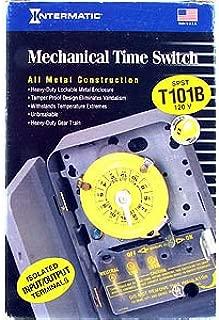 Intermatic T101B Timer Switch, 125V 24 Hr. Mechanical Spst W/Nema 1 Separate Clock Motor & Circuit Terminal